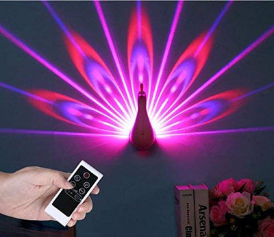 Peacock Shaped LED Projection Lamp