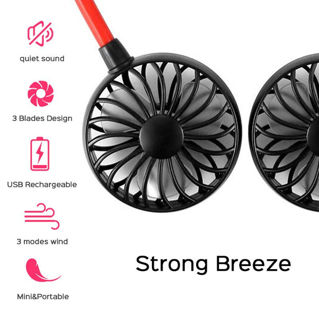 USB Rechargeable Portable Neck Fan