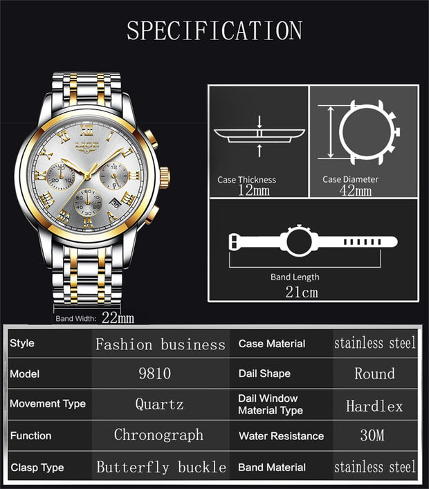 Men's Luxury Waterproof Sports Watch