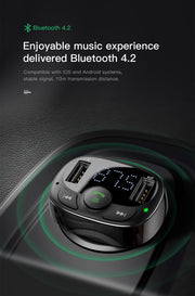 Bluetooth Handsfree FM Transmitter 3.4A Quick Charger