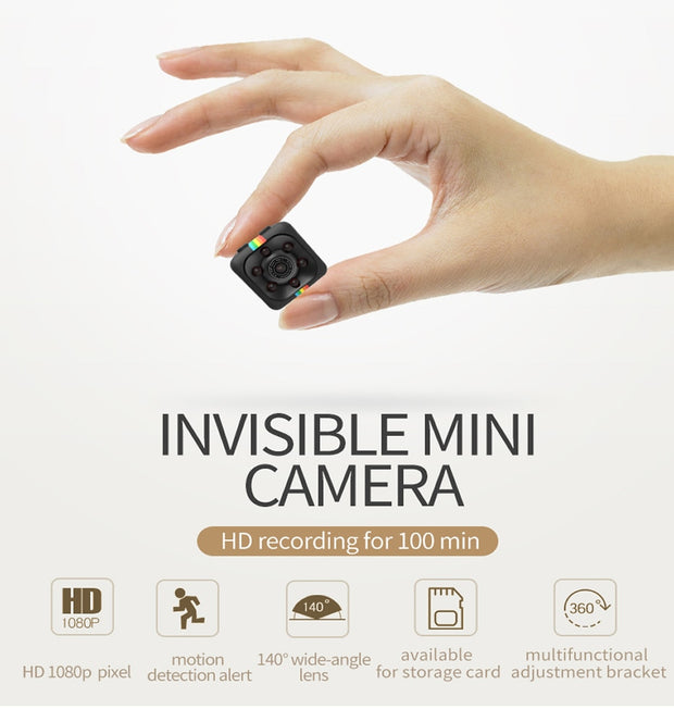 SQ11, SQ12, SQ13 1080P Mini Recorder Camera with Night Vision