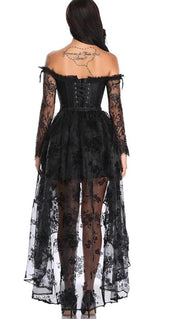 Gothic Lace Strapless Dress Corset