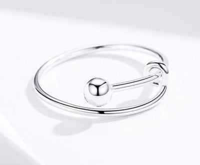 Women's Adjustable Sterling Silver Minimalist Ring