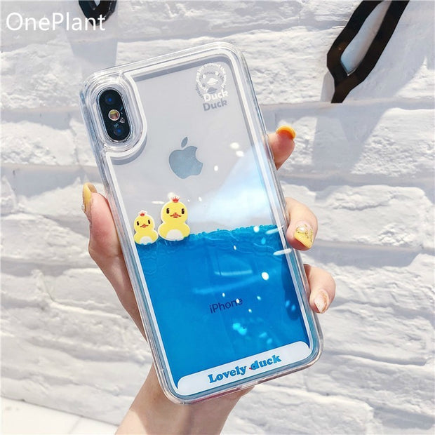 Swimming Duck iPhone Case
