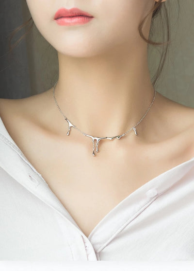 Falling Rain Sterling Silver Choker Necklace