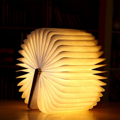 Magnetic Foldable LED Wooden Book Light