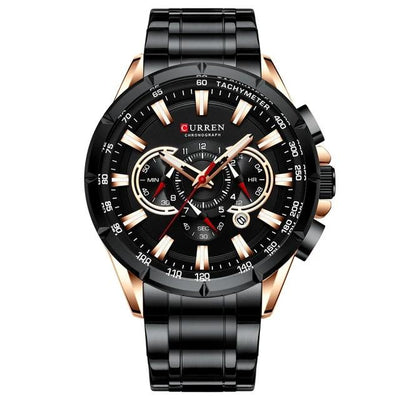 Men's Luxury Waterproof Chronograph Military Wristwatch