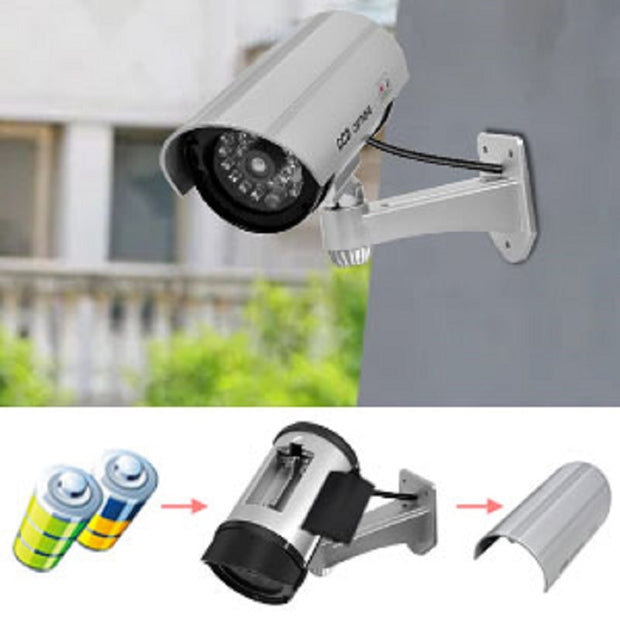 Outdoor Dummy Wireless Surveillance Camera
