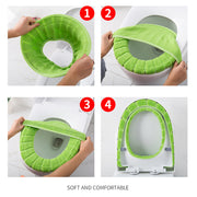 Universal Heated Fabric Toilet Seat Cover