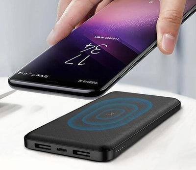 2-in-1 Wireless Charger Plus Power Bank