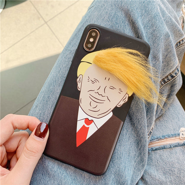 Funny Hair Design iPhone Case