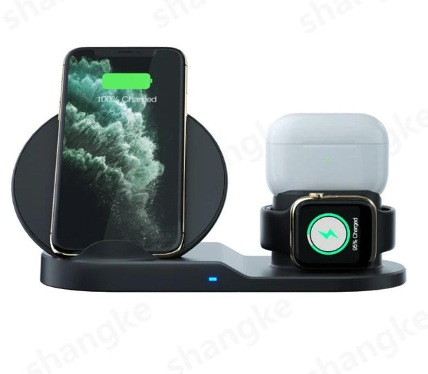 Wireless Charging Station for Apple Watch, iPhone Airpods and Samsung
