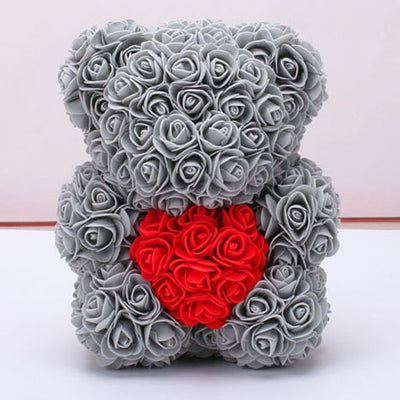 Rose Heart Teddy Bear