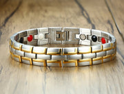 Men's Gold-Tone Stainless Steel Magnetic Bracelet