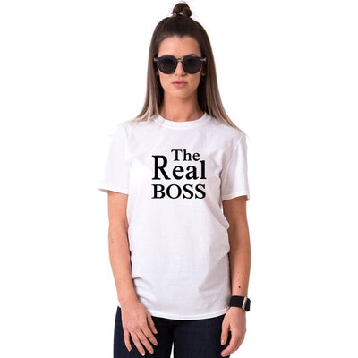 The Boss, The Real Boss Couple's T Shirt