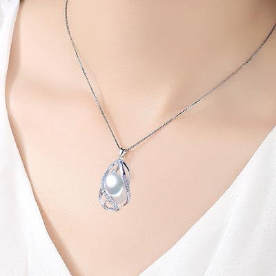 Tranquil Pearl Necklace and Pendant Combo