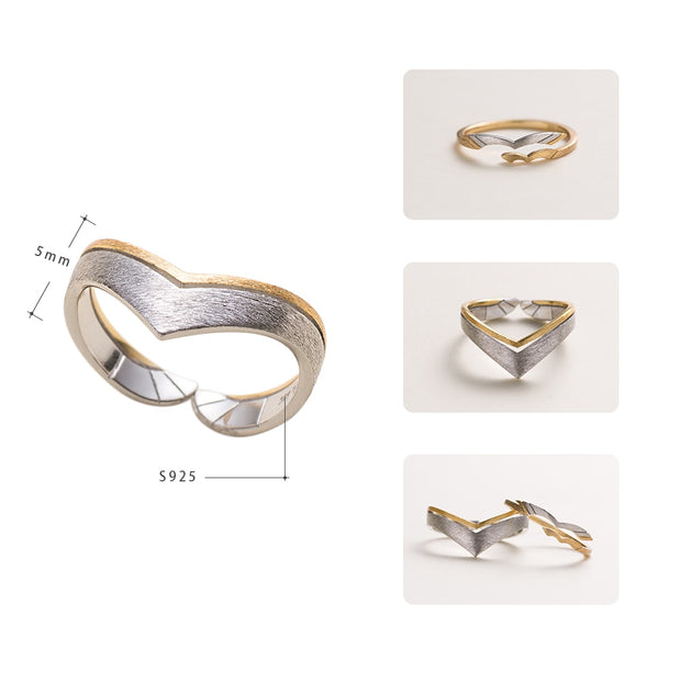 Lovebirds Design Sterling Silver Ring