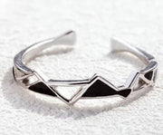 Edges and Corners Sterling Silver Design Ring
