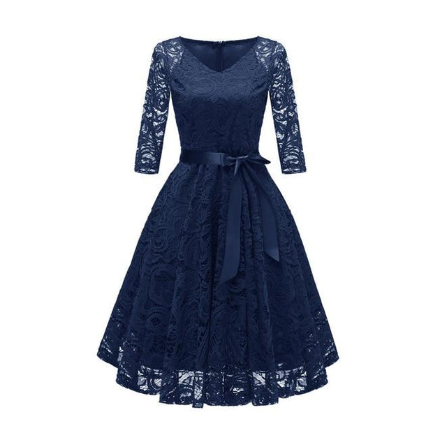 Lovin' The Lace 3/4 Sleeve Lace Dress