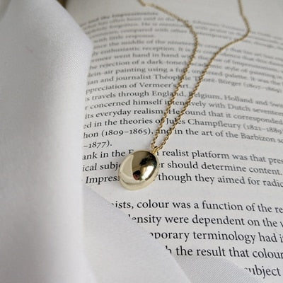 Sterling Silver Semicircle Necklace