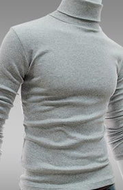 Men's Basic Turtleneck T-shirt 100% Cotton Thermal Underwear