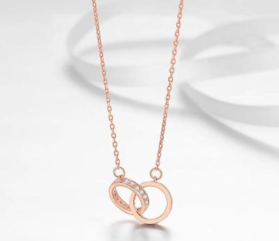 Love Knot Rose Gold Necklace
