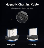 USLION Magnetic USB Cable Fast Charger