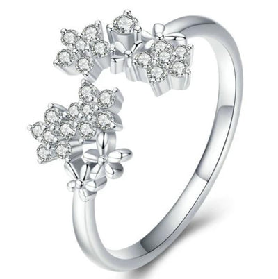 Daisy Cubic Zirconia Adjustable Ring