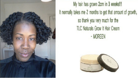 TLC Naturals Grow It hair growth cream feedback and review