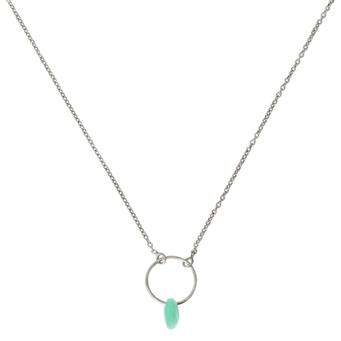 Aqua Necklace silver
