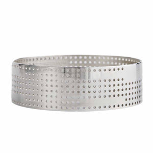 Bangle Perforated Large silver - shiny