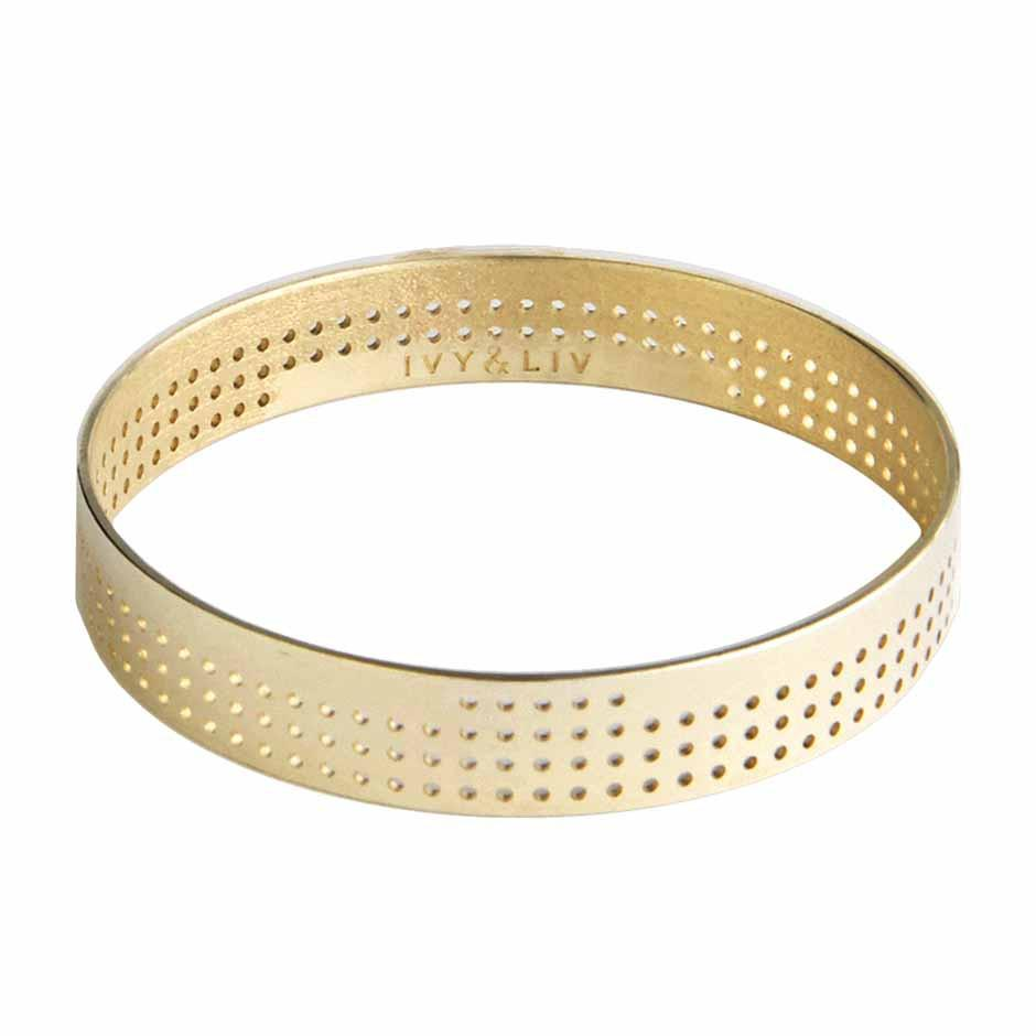 Bangle Perforated Small Gold Ivy Liv