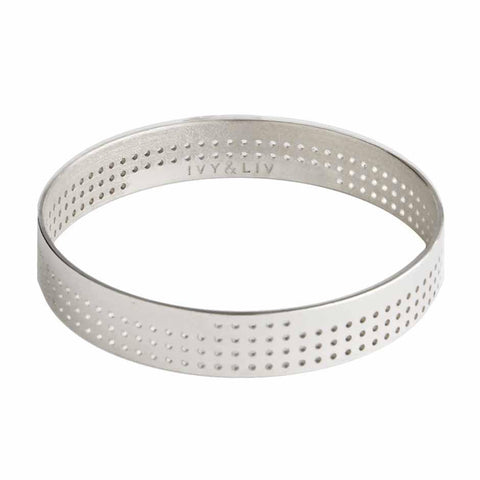 Bangle Perforated Small silver - shiny