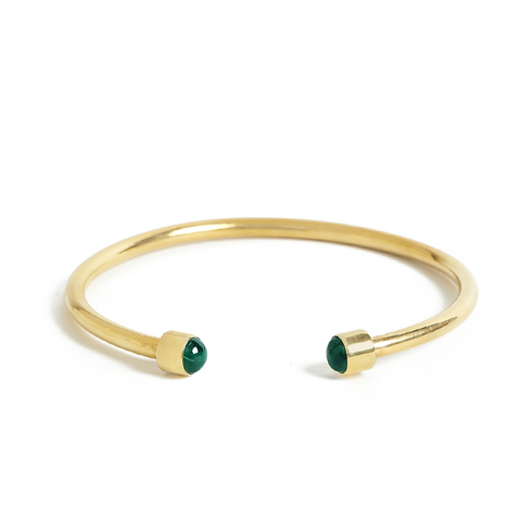 Bangle Malachite gold