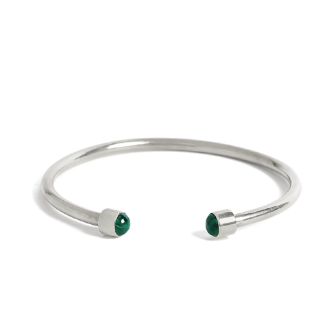 Bangle Malachite silver