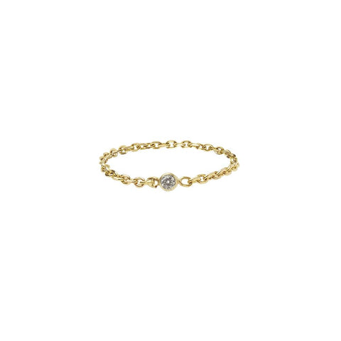Chain Ring 14ct gold - Lab Diamond