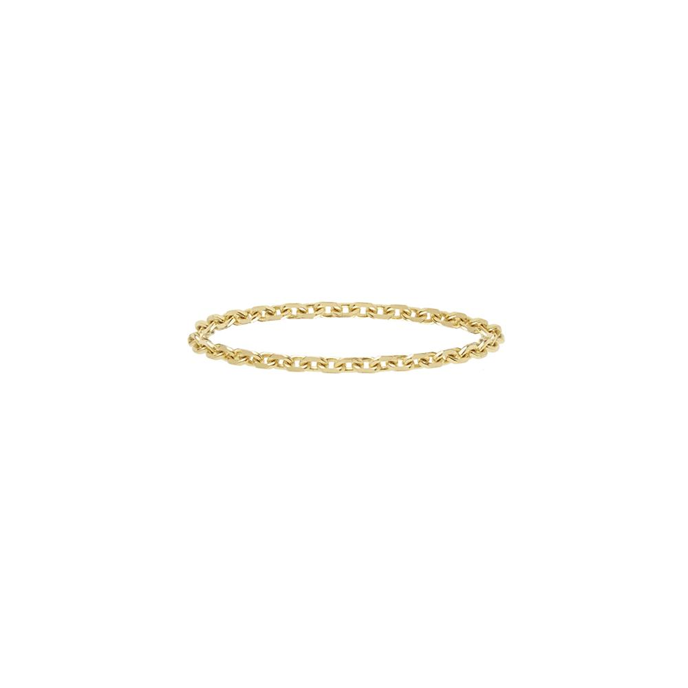 Chain Ring 14ct gold - Coral