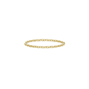 Chain Ring 14ct gold - Black Diamond