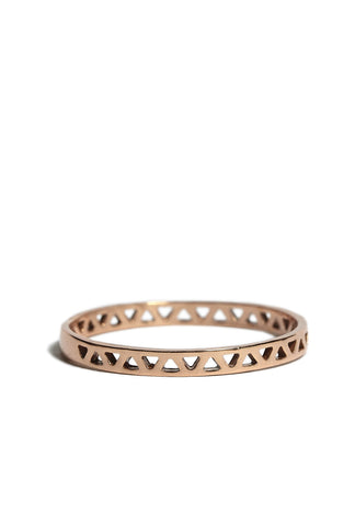 Daria Pyramid Ring rose