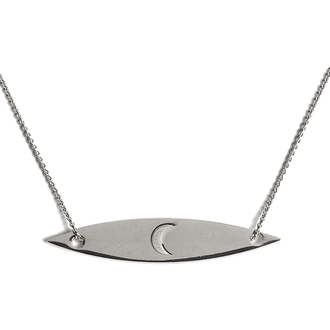 Half Moon Necklace silver
