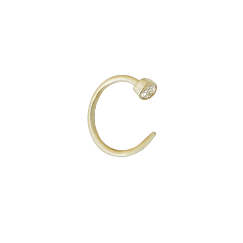 Fireflies Earring: Circle Diamond 14ct gold