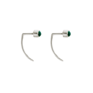 Fireflies Earrings: Malachite sterling silver