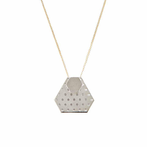 Hexagon Necklace silver