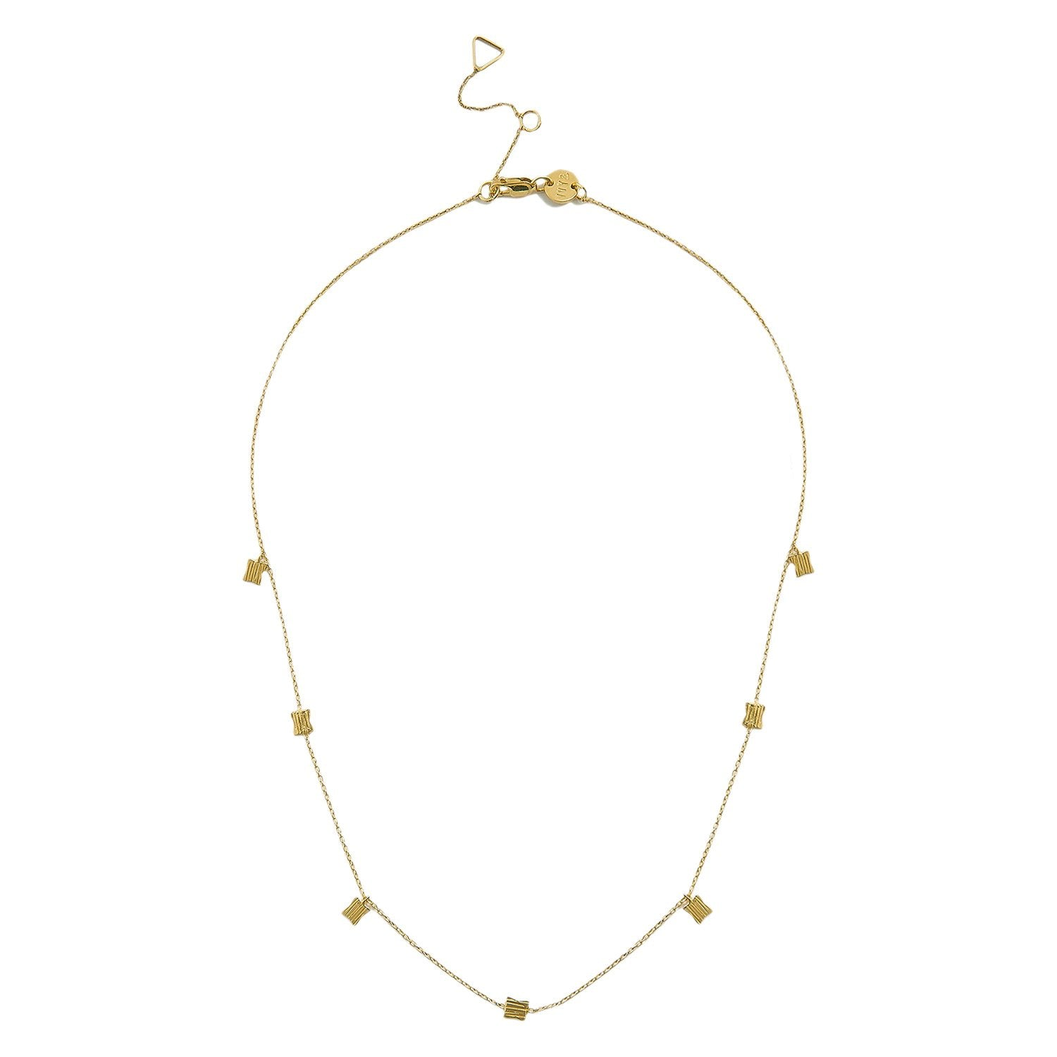 Avery Square Necklace gold