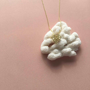 Galaxy Heart Necklace gold