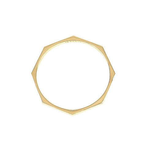 Octagon Bangle gold