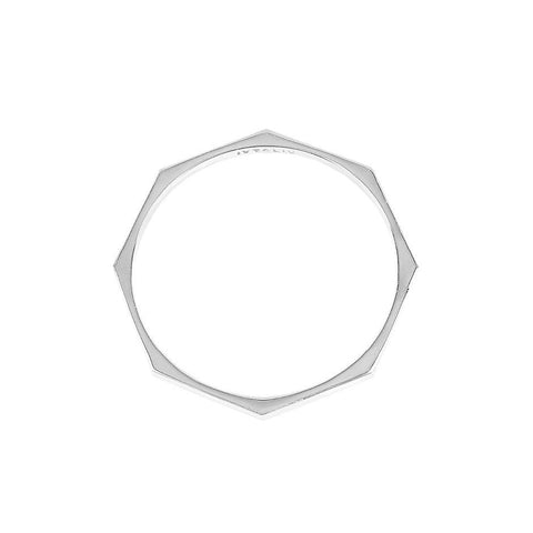 Octagon Bangle silver