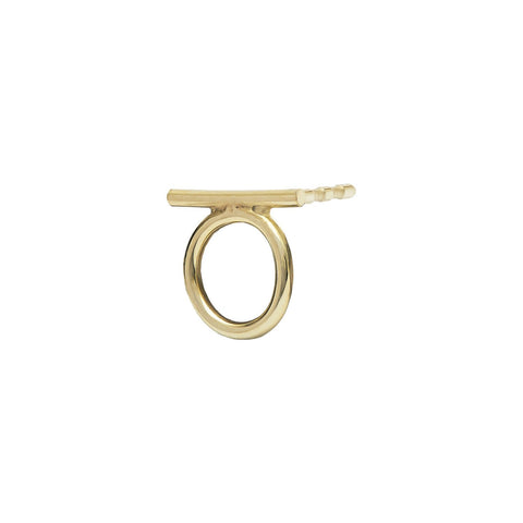 Luna Stud Earring 14ct gold