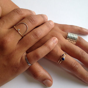 Perforated Ring silver - matt