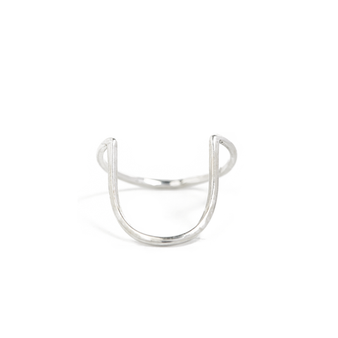Raincloud ring silver